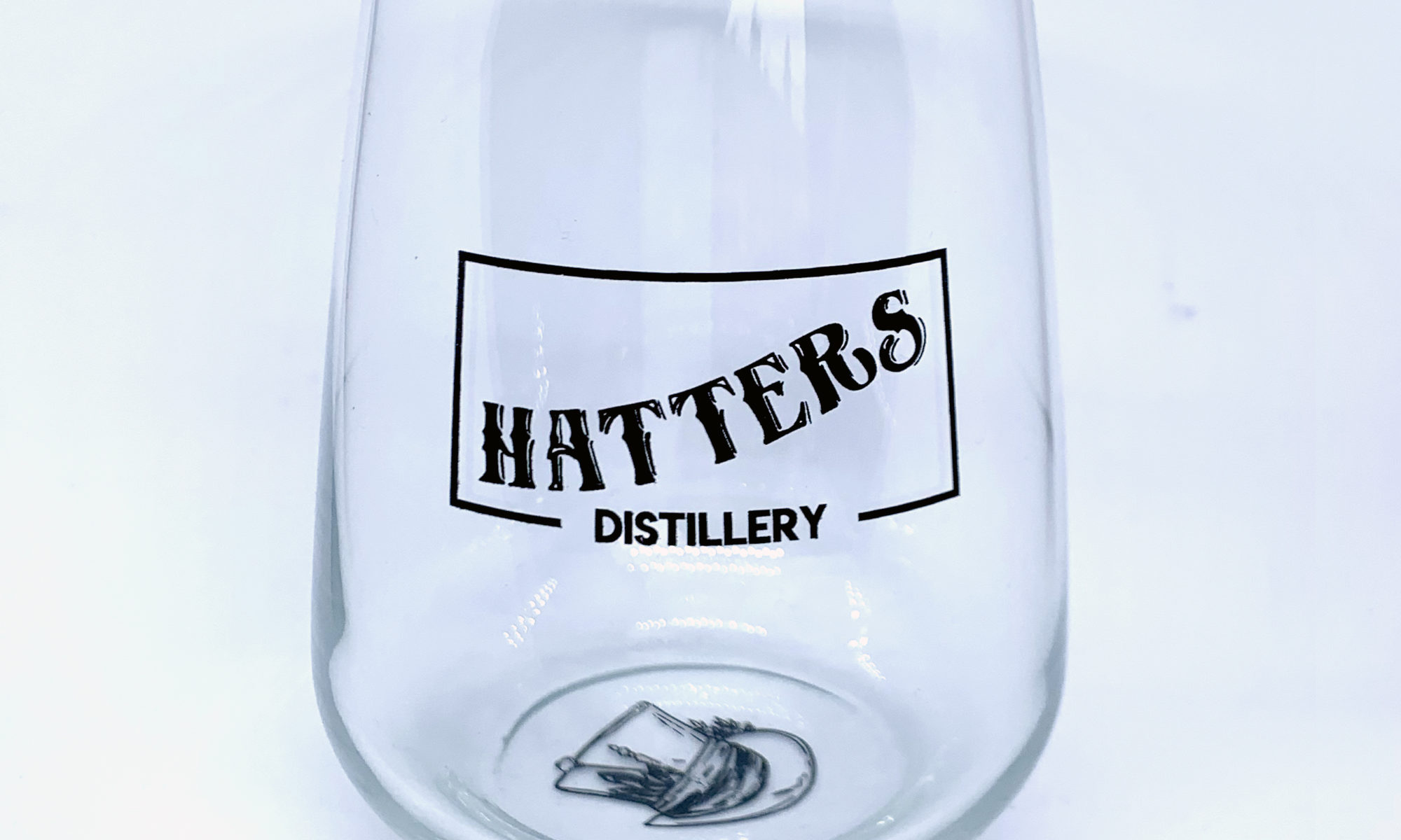 Hatters Distillery stemless gin glass